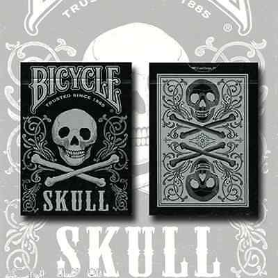 Skull Metallic Silver Deck Bicycle Playing Cards Poker USPCC Limited Edition New