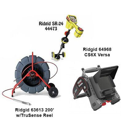 Ridgid 200 Wts Reel 63613 Seektech Sr-24 Locator 44473 Cs6x Versa 64968