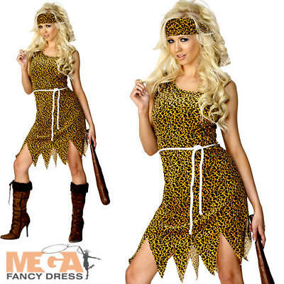 Cavewoman Outfits (Cavewoman Ladies Fancy Dress Prehistoric Barbarian Womens Adults Costume)