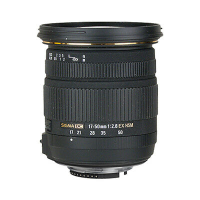 Sigma 17-50mm f/2.8 EX DC OS HSM Zoom Lens for Nikon DSLR with APS-C Sensors