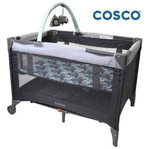 NEW COSCO FUNSPORT DELUXE PLAYARD 05069CEDR 245536573 Elephant Puzzle baby crib