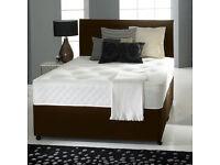 """MEMORY FOAM DIVAN BED SET + 10"""" LUXURY DUAL MATTRESS+ HEADBOARD SIZE 3FT 4FT6 5FT KING"""