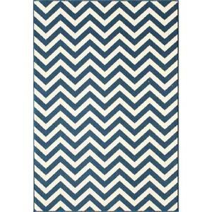 Navy Chevron Rugs