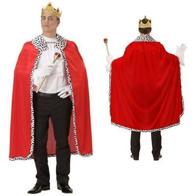 ROTER KÖNIG UMHANG & KRONE Fasching Herren Männer King Kostüm 098