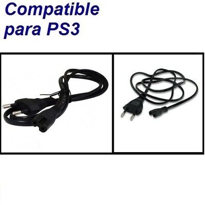 Cable Alimentacion Luz Corriente Enchufe Pared Conexion Consola PlayStation PS3