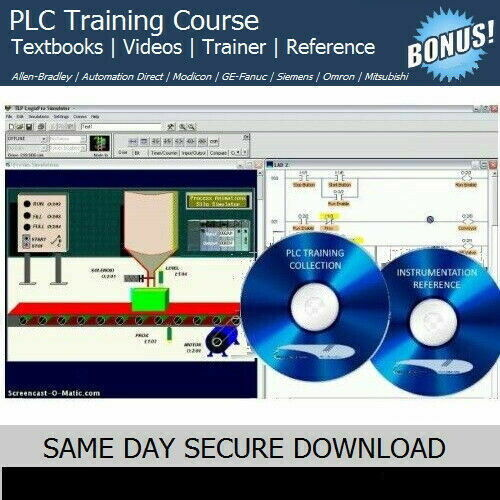 PLC Training Course with SIMULATION Trainer Software Kit - FAST ACCESS