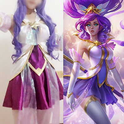 League of legends LOL Star Guardian Janna Skin Cosplay Damen Costume Kostüme Wig