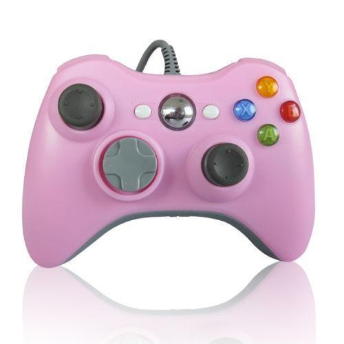 xbox 360 wired controller pink ebay. Black Bedroom Furniture Sets. Home Design Ideas
