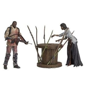 Filme & Dvds The Walking Dead Morgan With Impaled Walker And Spike Trap Deluxe Mcfarlane Toy Film-fanartikel