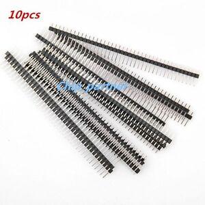 10pcs-40-Pin-1x40-Male-2-54mm-breakable-pin-header-Single-Row