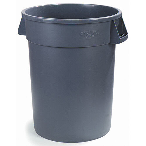 Carlisle 34105523 Round Waste Container - 55 Gallon Cap., Gray