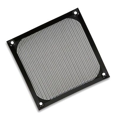 120mm Mesh Aluminium Fan Filter - Black