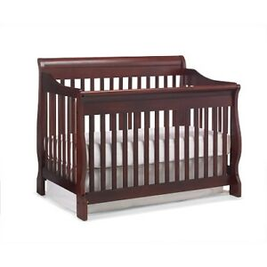 Shermag Baby Crib -Cherry colour with toddler bed extension