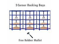 Industrial Racking Deal Heavy Duty Corner Racking Garage Shelving 5 Tier Racks