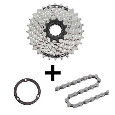 Fahrrad Verschleißset 7 fach Shimano HG40 Kette + Kassette HG41 Distanzring