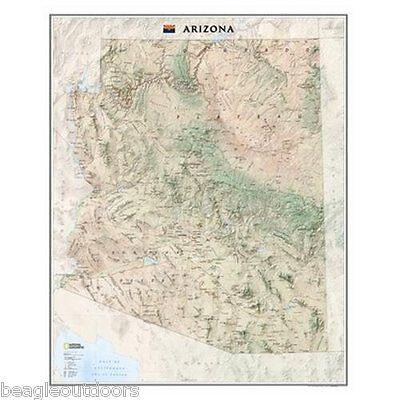 DEFECT National Geographic Arizona AZ State Wall Map Standard RE01020396
