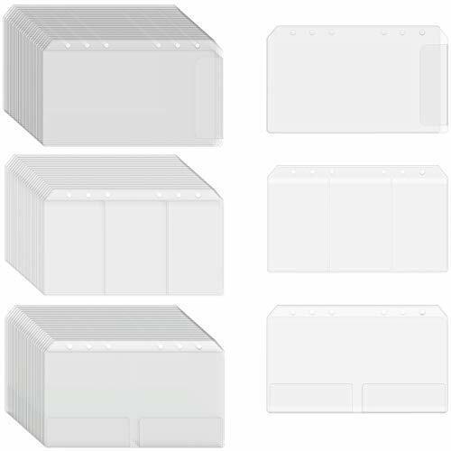 24 PCS A6 6-Hole Binder Pocket Notebook Refill Filler Organizer Name Card