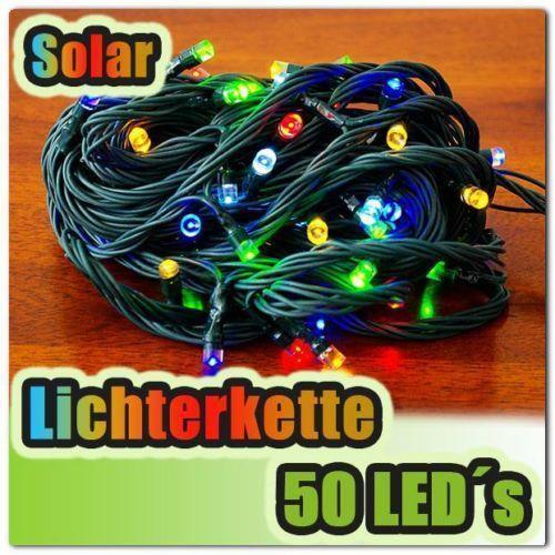 50 led solar lichterkette ebay. Black Bedroom Furniture Sets. Home Design Ideas