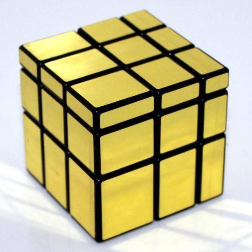 Golden cube puzzles ebay for Mirror rubik s cube
