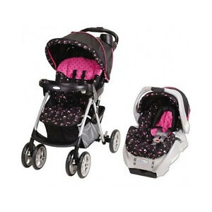 Baby-Stroller-and-Car-Seat-Priscilla-Pink-Black-Baby-Car-Seat-Stroller-Matching