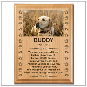 Memorial Plaques - Engraved Wood Plaques For Pets London Ontario image 2