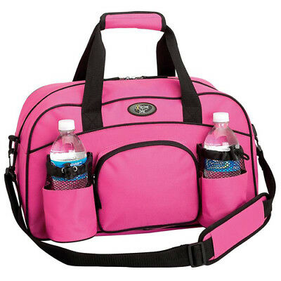 """Pink 18"""" Sports Brand Duffle Bag Workout Tote Shoulder Gym Yoga Water Overnight"""