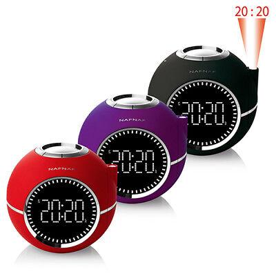 NAFNAF Uhrenradio Radiowecker Clockine mit LCD Display und MP3 / Radio Wecker