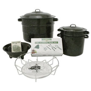 12 Piece Granite Ware Canning Canner Complete Kit Stock Pot Lid Funnel Rack