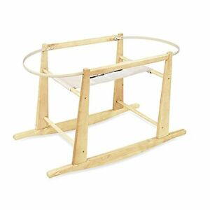 Brand new still in box Rocking Moses Basket Stand Natural Wood.