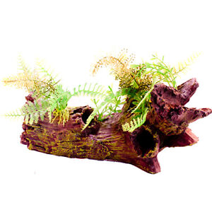 Biopro aqua fish tank turtle aquarium resin decoration for Aquarium log decoration