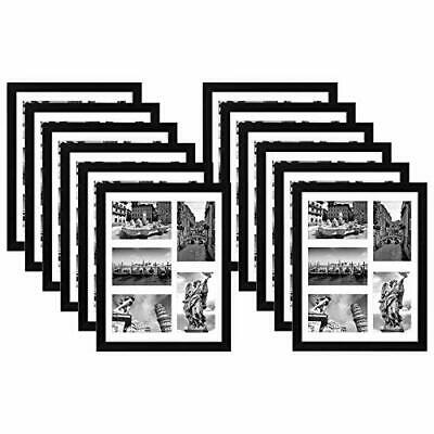 Collage Picture Frame Black 11 x 14 Displays Five 4 x 6 Photos Frames