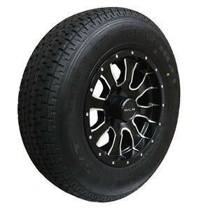 - TRAILER TIRES on ALUMINUM RIMS - ST225 75 R15 - CLENTEC