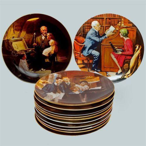 Norman Rockwell Plates Ebay