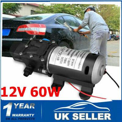 12 Volt 60W 115Psi High Pressure Wash Diaphragm Self Priming Water Pump 5L/min