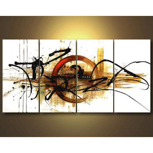 Framed Original Modern Abstract Hand Paint Oil Painting on Canvas Home Art Decor
