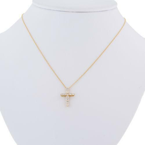 small chains necklace gold cross white tiny treasures coin diamond roberto