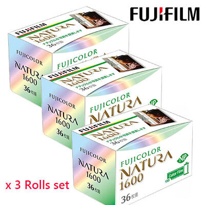 FUJIFILM 1600-N 36EX NATURA 1600 Color film 3 Rolls SET  Production has ended