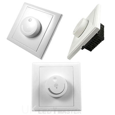 dimmer control wall 1 gang rotary for gu10 e27 lamps 220v led light switch. Black Bedroom Furniture Sets. Home Design Ideas