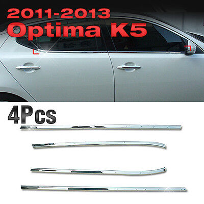 Chrome Window Sill Accent Molding Trim A856 For KIA 2011 - 2015 Optima / K5