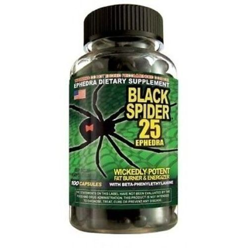 Black Spider 25 by Cloma Pharma Fat Burner/Weight Loss 100 Capsules Exp. 02/2021