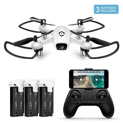 Amcrest A4-W Wifi FPV Drone 720P w/ HD Camera 2.4Ghz  Quadcopter 3 X Batteries