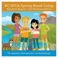 BC SPCA Nanaimo & District Spring Break Camp!