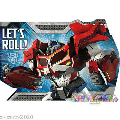 Transformer Party Invites (TRANSFORMERS INVITATIONS (8) ~ Birthday Party Supplies Stationery Optimus)