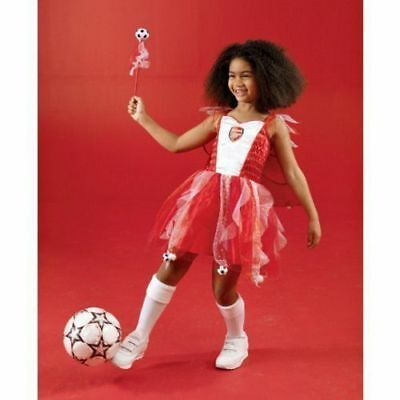 Girls Fancy Dress Arsenal Football Fairy Christmas Costume Cape size 2-3 Yrs - Girls Football Costume