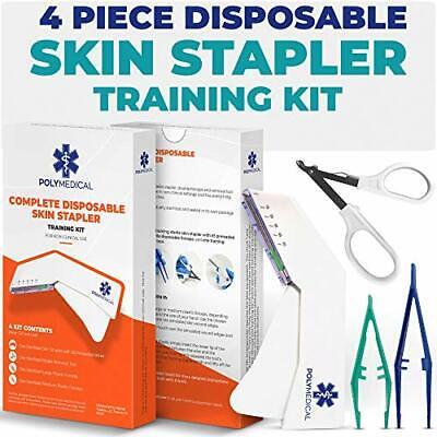 4 Piece Disposable Skin Stapler Kit Suture Thread Alternative 55 Wires