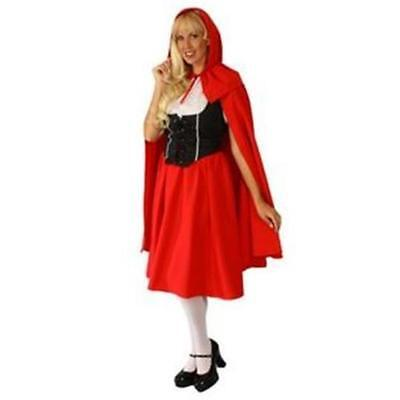 ALEXANDERS~WOMENS DELUXE LITTLE RED RIDING HOOD SHIRT SKIRT CAPE VEST - Red Riding Hood Skirt
