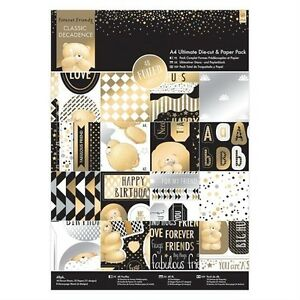 PAPERMANIA FOREVER FRIENDS CLASSIC DECADENCE ULTIMATE A4 DIE CUT & PAPER PACK