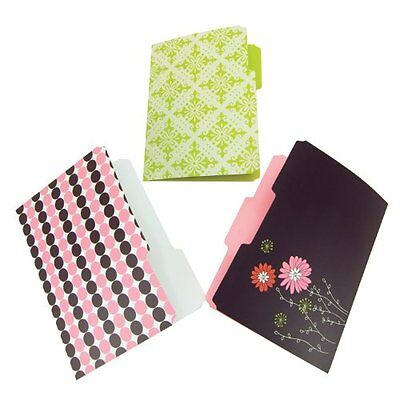 Wilson Jones Recycled Bliss Decorated File Folders Pack Of 6 W31505