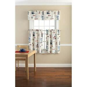 Lighthouse Kitchen Curtains Set