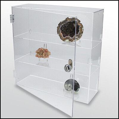 SAFE Acryl Vitrine abschliessbar,transparent, 240x240x60 mm ( 5249 )